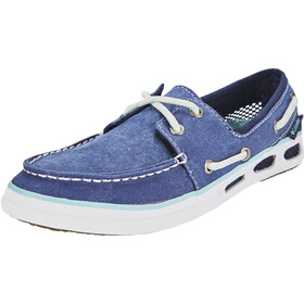 Columbia Vulc N Vent Boat Canvas Zapatillas Mujer, collegiate navy, candy mint